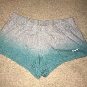 Grey Ombre Turquoise Nike Shorts